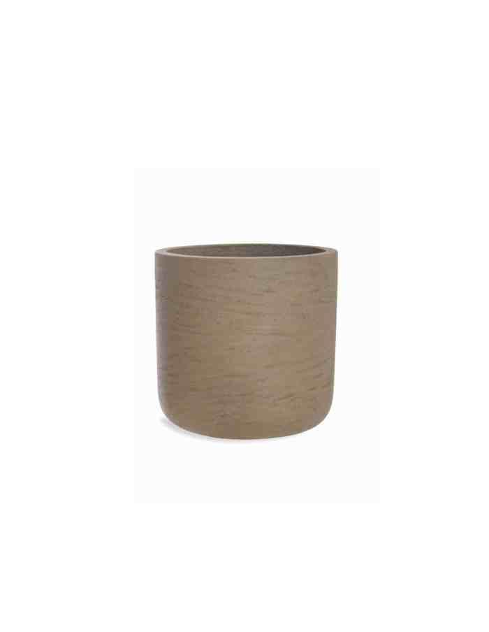 Medium Warm Stone Plant Pot, Concrete