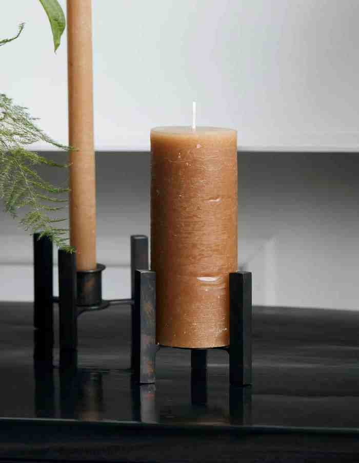 Rustic Camel Pillar Candle, House Doctor
