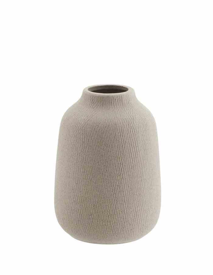 Grey Textured Bouquet Vase, Madam Stoltz