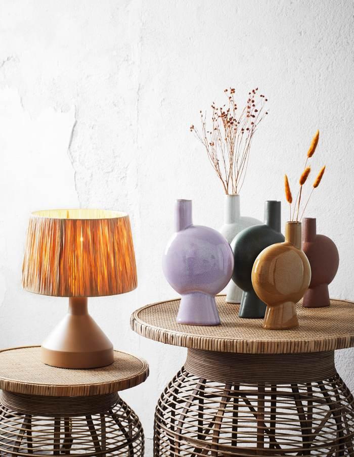 Mustard Abstract Stoneware Vase, Madam Stoltz