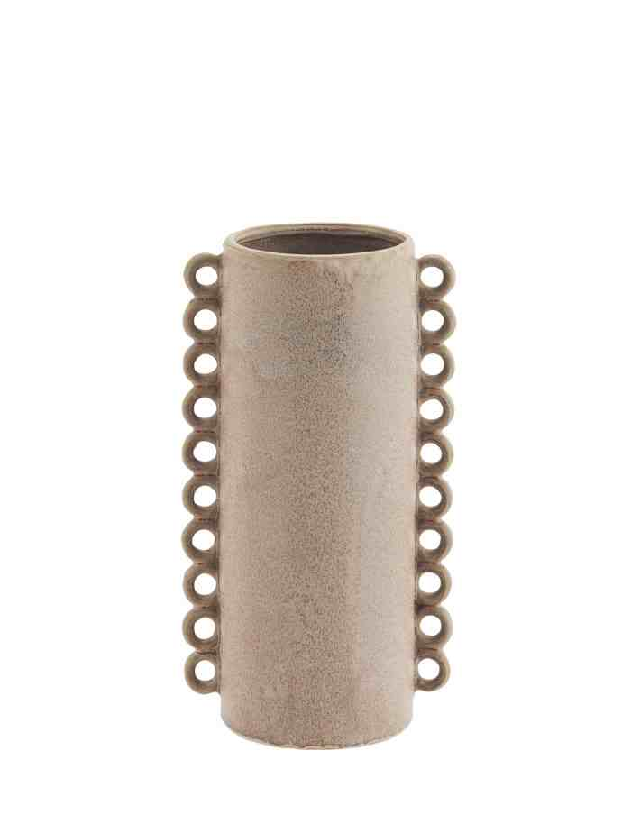 Pink Ruffled Cylinder Vase, Madam Stoltz