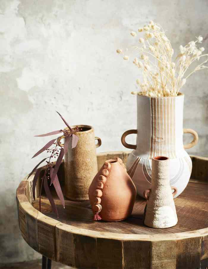 Tipi Terracotta Vase with Handles, Madam Stoltz