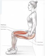 Préparation physique : chaise pour travailler les quadriceps