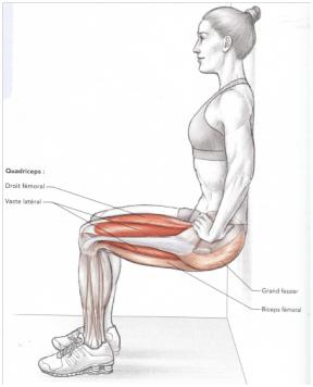 Préparation physique à la maison : chaise pour travailler les quadriceps