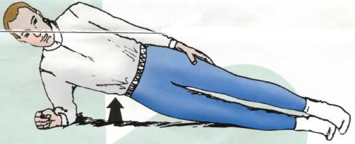 Gainage : planche latérale