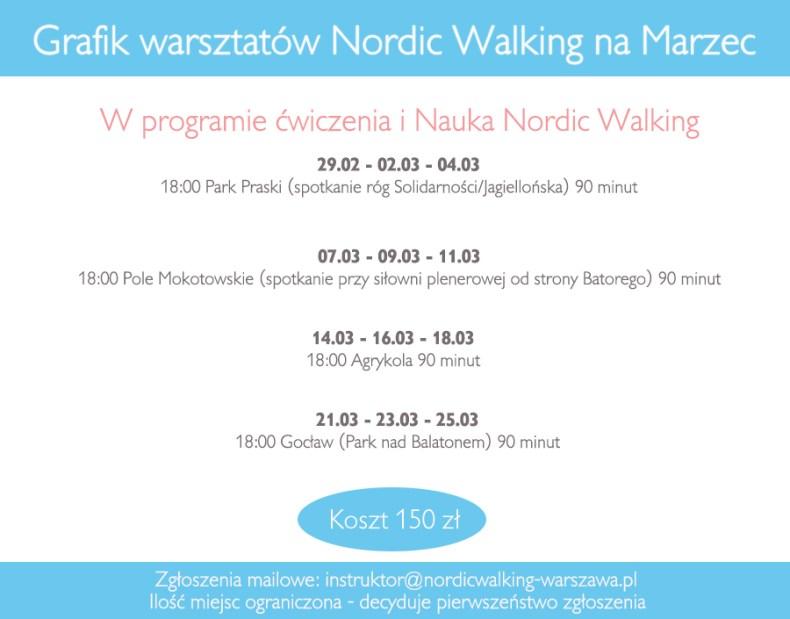 treningi nordic walking warszawa