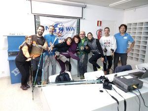 Grup curs d'instructors INWA a l'aula. La Seu d'Urgell.