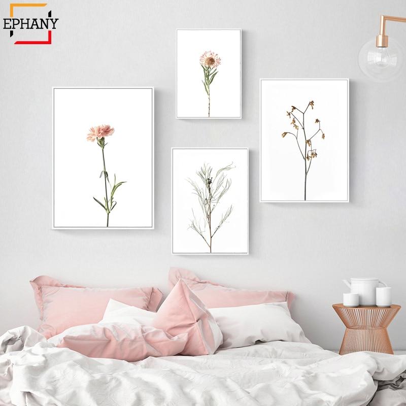 Boho Style Floral Beach Canvas Painting Nordic Wall Art Print Modern Home Decor