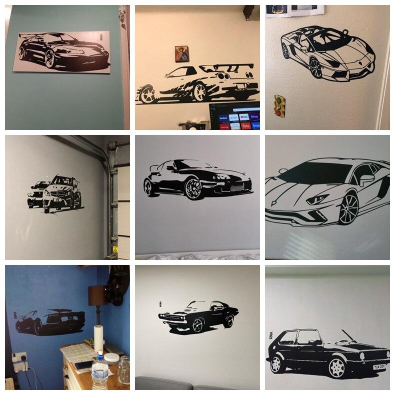 Modern Sport Car Vinyl Wall Sticker Cars Wall Decor For Living Room Decoration Bedroom Decor Home Wall Art Decals Wallpaper Nordic Wall Decor