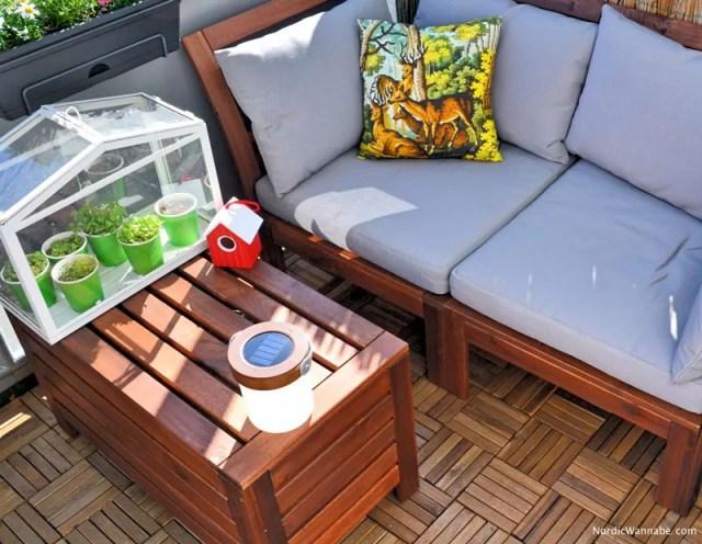 skandinavien f r den balkon. Black Bedroom Furniture Sets. Home Design Ideas