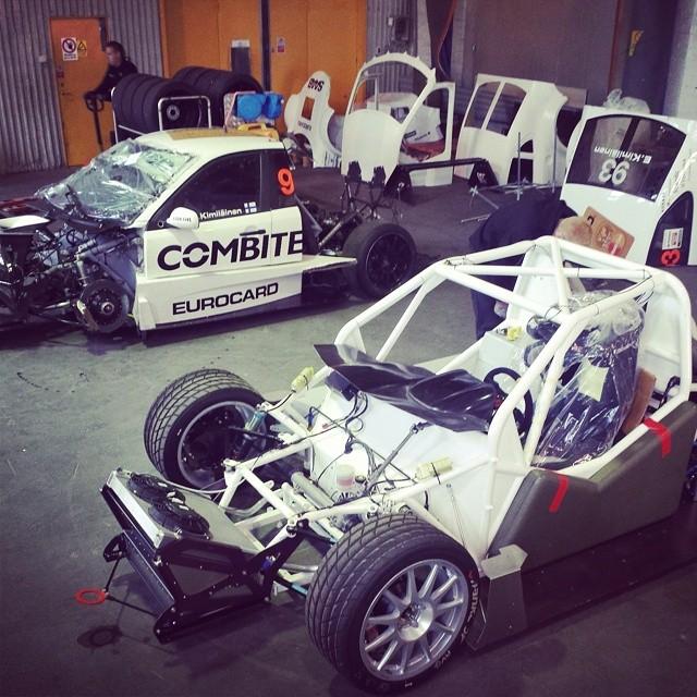 Chassis Transplantation am Saab 9-3 STCC