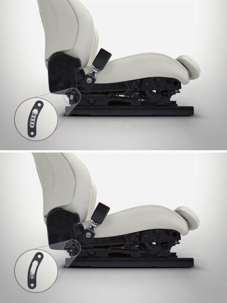 Volvo Run of Road Protection, Sitze mit Energie absorbierenden Bereichen.