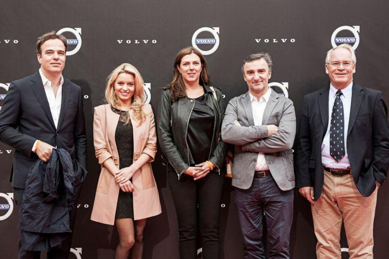 Volvo Markenbotschafter Philipp Mainzer, Delia Fischer, Claudia Helming, Johannes King, Rolf Vrolijk