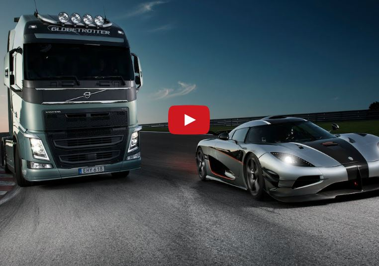 Volvo FH vs. Koenigsegg One:1