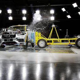 Volvo XC90 Crashtest. Bild: Volvo Cars