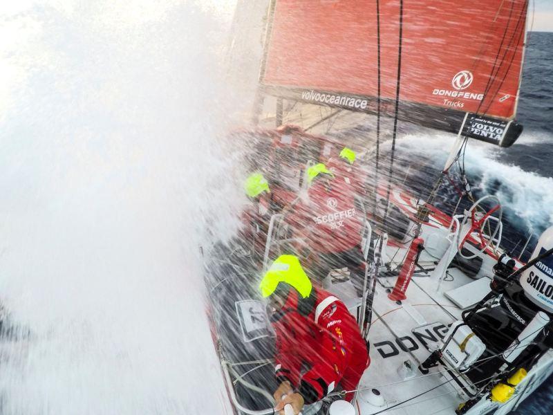 Volvo Ocean Race: Team Dongfeng auf Etappe 4. Bild: Volvo Ocean Race