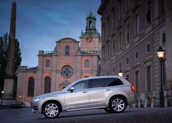 Volvo XC90 auf der koeniglichen Hochzeit in Stockholm. Bild: Volvo Cars