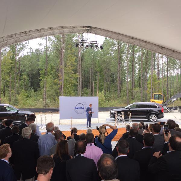Erster Spatenstich. Volvo Werk South Carolina. Bild: Volvo Cars US