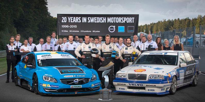 20 Jahre im schwedischen Motorsport. Bild: Polestar Cyan Racing