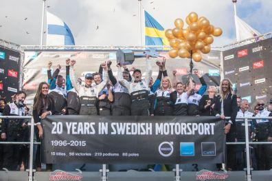 Historischer Volvo Sieg für Thed Björk. Bild: Polestar Cyan Racing