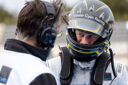 160331 Wtcc deltävling 1, Paul Ricard Frankrike. Volvo Polestar, Cyan Racing.