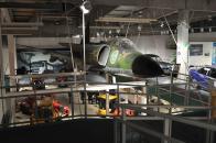 Der Saab Jet hat ein Volvo Triebwerk, und kommt deshalb auch in das Museum.