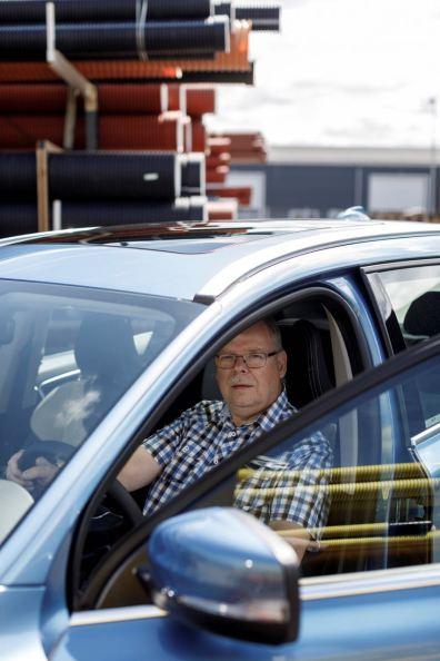 Er wird den Jubiläums Volvo im Alltag fahren. Bild: Volvo Cars