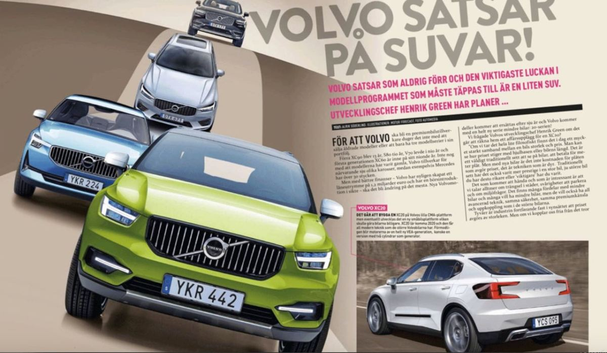 Kompakt SUV. Neuer Volvo XC20 kommt 2020.
