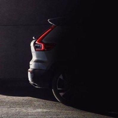 Volvo XC40 Heck. Nicht beabsichtigter Teaser von Volvo Deutschland?