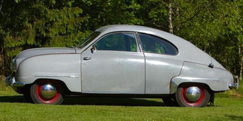 Saab Auktion, der vermutlich drittälteste Saab der Welt. Bild: Bonhams