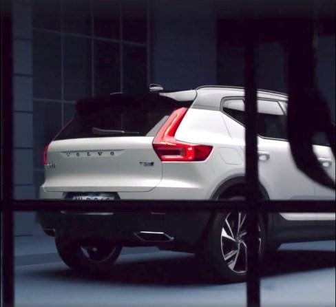 Heck des neuen XC40. Bild: Volvo via FB
