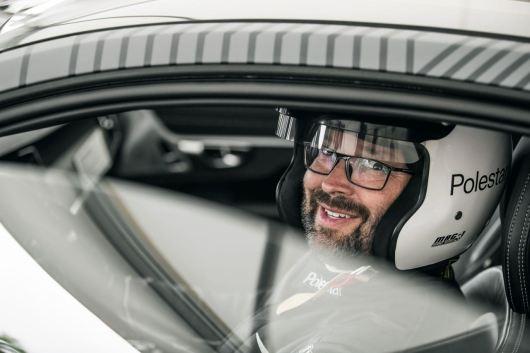 Testfahrer Joakim Rydholm startet mit dem Polestar 1 beim Goodwood Festival of Speed 2018