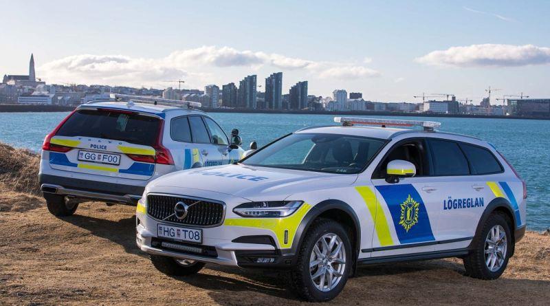 Volvo V90 CC der isländischen Polizei
