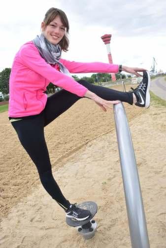Der Fitness-Parcous an der Nordenhamer Strandpromenade