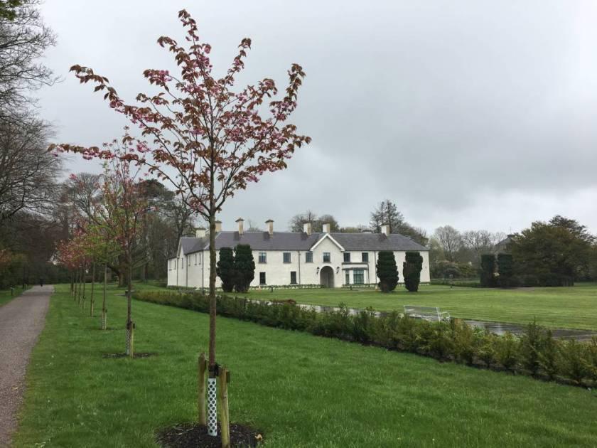 Das weisse Killarney House und ein Teil des Parks