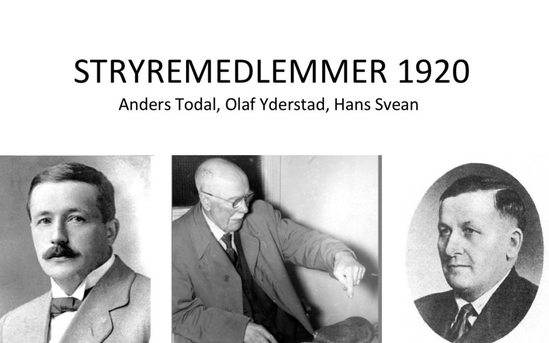 Styrene i Nordmøre historielag 1920 – 2020