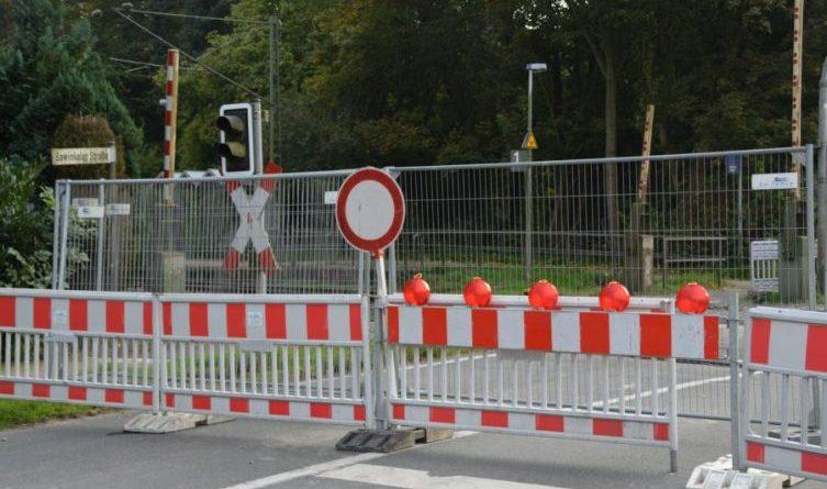 Gleisbauarbeiten – Sperrung von Bahnübergangen