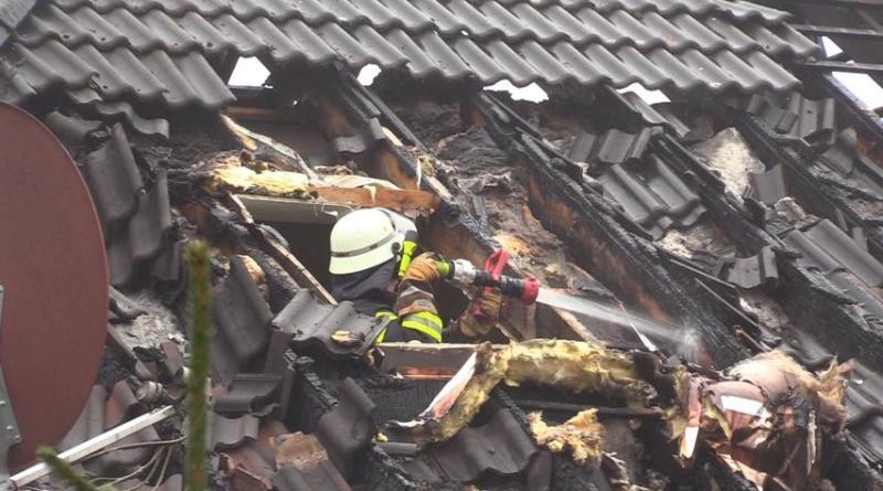Wietmarschen - Zweimaliger Feuerwehreinsatz an der Kolbestraße Foto: NordNews