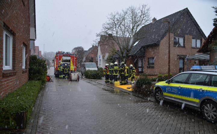Vermutlicher Gasgeruch in der Rosenstraße in Lingen Foto: NordNews.de