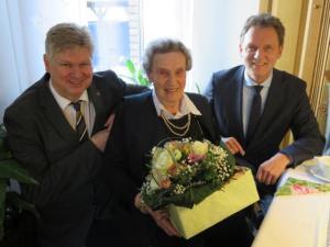 Elisabeth Metz - Älteste Bewohnerin Damaschkes feierte 101. Geburtstag