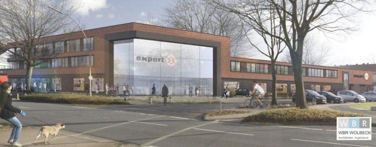 Expert RIAL-Kauf plant Umbau Investition von drei Millionen Euro in den Standort Lingen - Visualisierung: © WBR Wolbeck Architekten Ingenieure