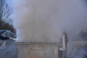 Containerbrand: Jürgen Tenbusch und Stephan Cordel verhindern Großbrand Foto: NordNews.de