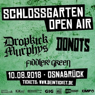 Schlossgarten Open Air 2018 – Line Up mit Fiddler's Green jetzt komplett