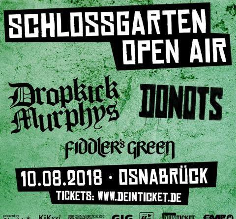 Der Countdown läuft - Schlossgarten Open Air 2018 am 10. August - Donots, Dropkick Murphys, Fiddlers Green