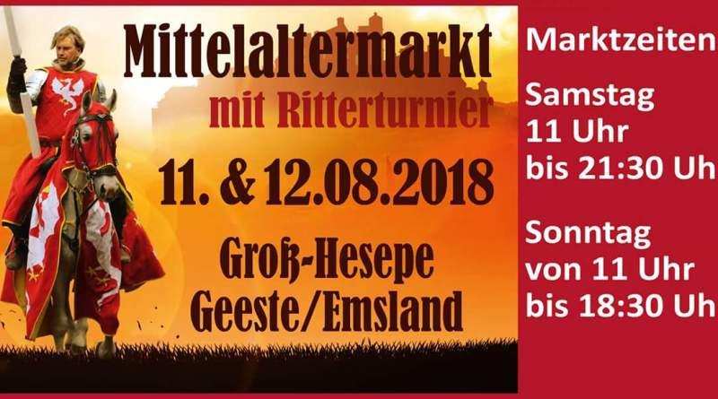 Mittelaltermarkt mit Ritterturnier in Geeste - Groß Hesepe