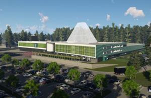 Baufortschritte beim BP Lingen Gebäudekomplex - Ende des Jahres ziehen die ersten Mitarbeiter um - Das Modell des neuen Gebäudekomplexes der BP Lingen. Hier werden in 2019 viele Mitarbeiter der Raffinerie ihren neuen Arbeitsplatz beziehen. Foto: BP