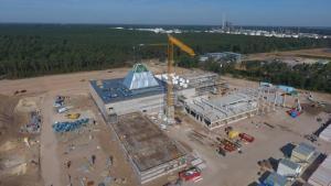 Baufortschritte beim BP Lingen Gebäudekomplex - Ende des Jahres ziehen die ersten Mitarbeiter um. Foto: BP