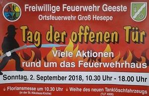Tag der offenen Tür bei der Freiwilligen Feuerwehr Geeste - Ortsfeuerwehr Groß Hesepe - Typisierungsaktion der DKMS