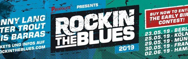 ROCKIN' THE BLUES - DAS BLUES FESTIVAL EREIGNIS 2019 - Early Bird Aktion - MIT WALTER TROUT, JONNY LANG UND DER KRIS BARRAS BAND