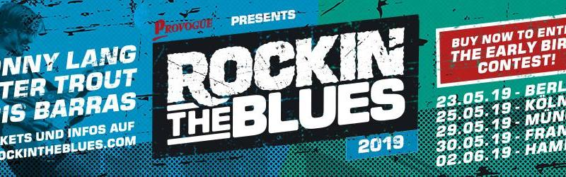 ROCKIN' THE BLUES - DAS BLUES FESTIVAL EREIGNIS 2019 - Early Bird Aktion - MIT WALTER TROUT, JONNY LANG UND DER KRIS BARRAS BAND